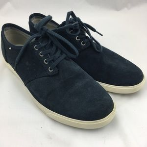 Clarks sneakers lace up shoes blue suede Torbay